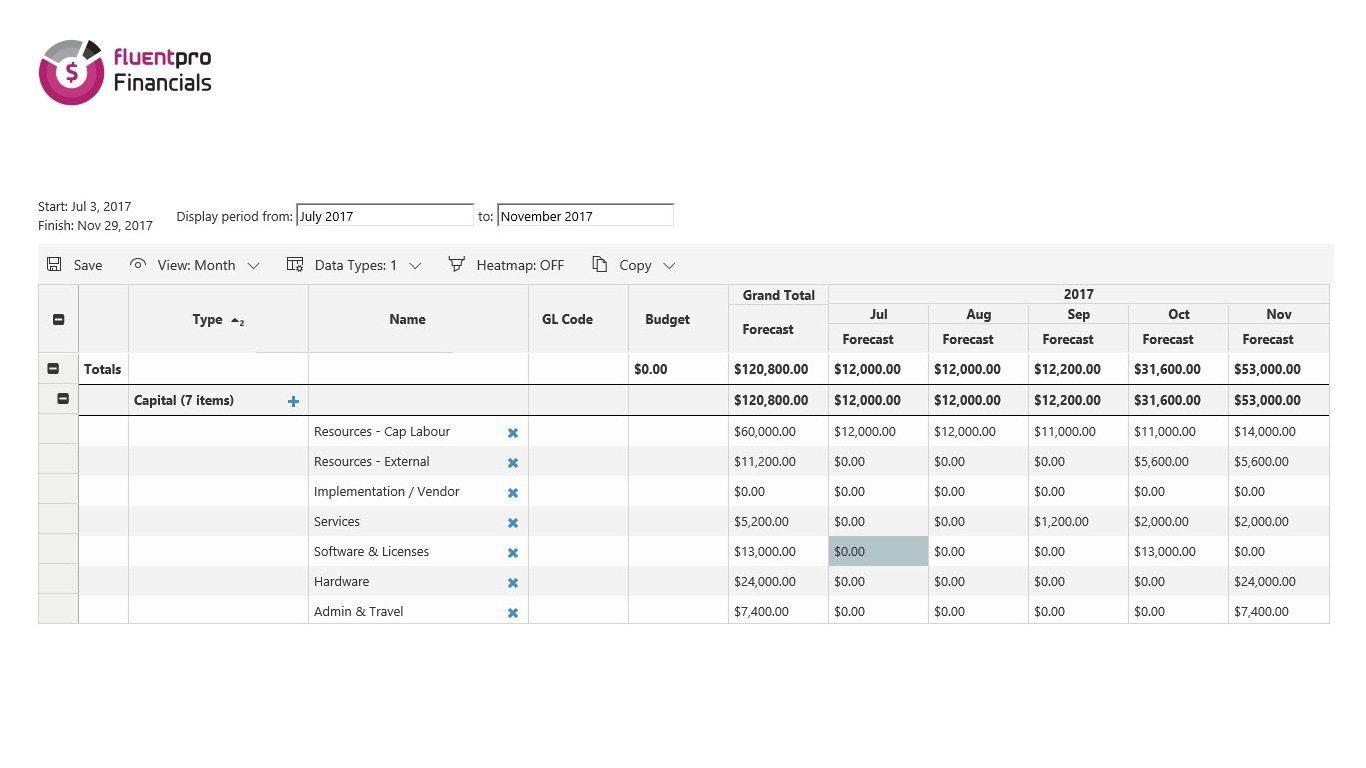 FluentPro Financials Screen 2